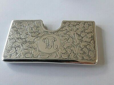 A Lovely Silver  Victorian Card Case   Birmingham 1898