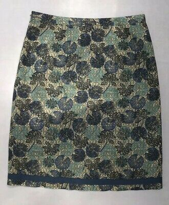 8cde2555a3 MISTRAL Floral Cotton And Linen Blend Skirt : Excellent Condition, Size 12