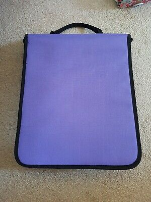 BN Purple Papercraft storage / Carry bag, with carry handle Moveable dividers