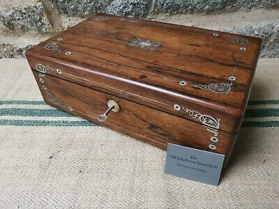 A Victorian Rosewood Writing Box