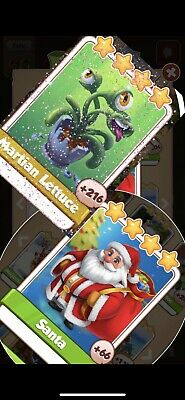 Coin Master Cards Martian Lettuce And Santa  Pack Fast Delivery