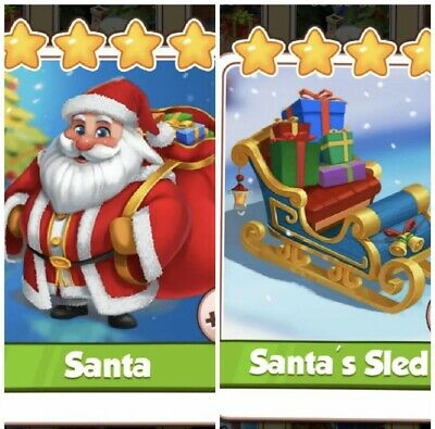 Coin Master Cards Santa And Santa's Sled Combo Pack. Fast Delivery