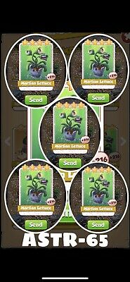 Coin Master Card Martian Lettuce x4 Pack Fast delivery