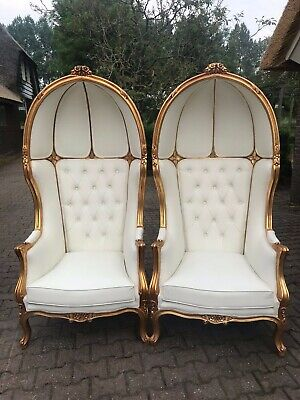 Stunning Pair of 2 French Louis XVI Balloon Chairs