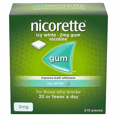 Nicorette Icy White Chewing Gum, 2 mg, 210 Piece,Brand New