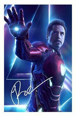 Robert Downey Jr - Avengers Infinity War Autographed Signed A4 Pp Poster Photo