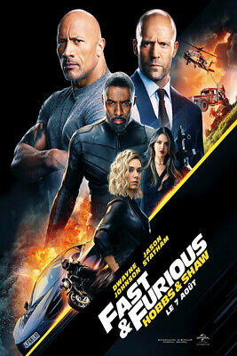 X3146 Fast And Furious Presents Hobbs & Shaw Hot Movie Art Silk Poster