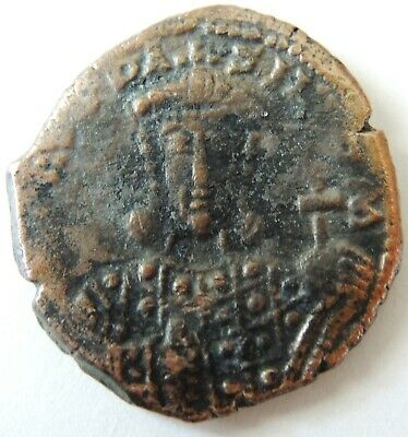 Rare Ancient Byzantine Coin  Uncleaned                                    -34