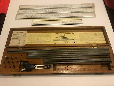 Keuffel & Esser Co Leroy Lettering Set Drafting Tools Templates K&E