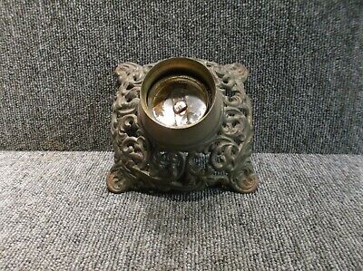Old Cast Iron Oil Lamp Base NICE!