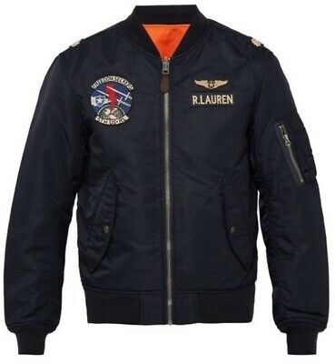 Lauren Patch Bomber Flight Ralph U Flag Military Reversible Polo s kZuiPX