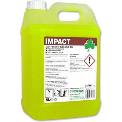 Clover Impact Lemon Floor Gel Cleaner Cleaning Concentrate 5Ltr Free P&P 111