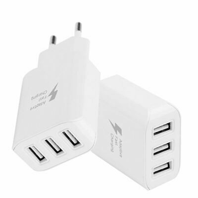 2X(Universel 5V 2A Voyage Prise UE 3 ports USB Chargeur mural Adaptateur sect IJ