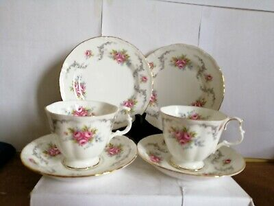 "2 Royal Albert ""Tranquility"" tea cups saucers and side plates 1st quality"