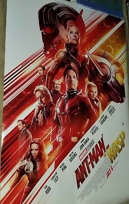Antman And The Wasp Theateical Movie Poster And Double Sided And Mini Comic