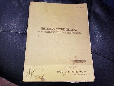 HEATHKIT Assembly Manual Solid State VOM IM-25  (1967)