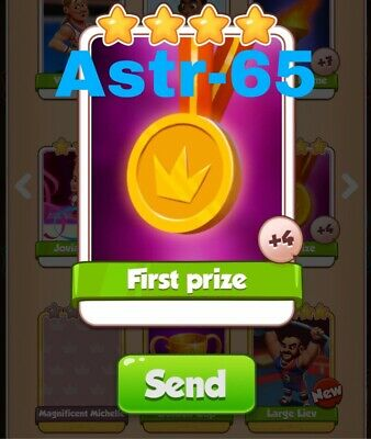 Coin Master Cards First Prize Fast Delivery