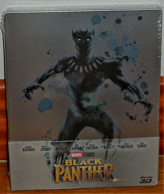 Black Panther Blu-Ray 3D + Neuf Steelbook Action Aventures (sans Ouvrir) R2