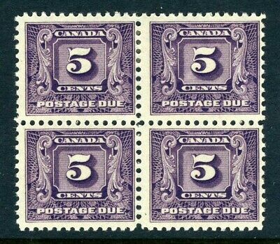 CANADA Scott J9 - NH / HR - BLK of 4 - 5¢ Second Postage Due Issue (.004)