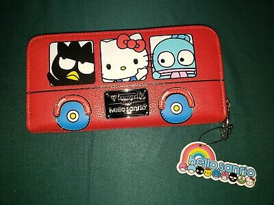 HELLO KITTY BUS SANRIO CHARACTERS Zip-Around Wallet Red Loungefly