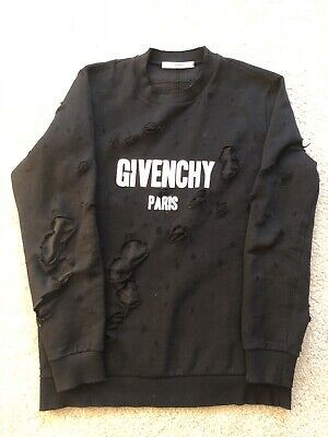 e33c3995952 100% AUTHENTIC GIVENCHY Distressed Sweater Shirt Hoodie Oversized