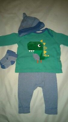 Next Upto 3 Months 4 Piece Set Includes Hat Socks Tshirt And Pants