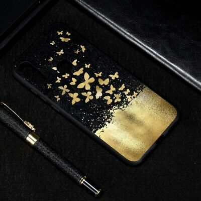 Huawei Y6 (2019) Mobile Phone Case gold UK 0876
