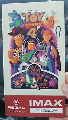 TOY STORY 4 Regal IMAX Collectible Ticket #/1000 Free Poster Code FREE SHIPPING