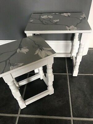 Groovy Shabby Chic Nest Of Two Coffee Tables Farrow Ball Laura Gmtry Best Dining Table And Chair Ideas Images Gmtryco