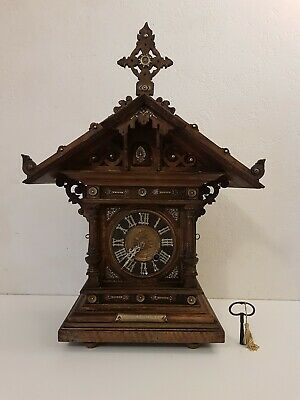 1888 Black Forest Cuckoo Mantle Clock