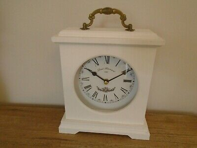 Shabby Chic Mantle ,Dressing Table Mantle Clock White