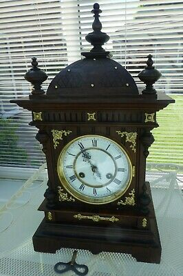 Junghans Mantel clock early 1900's Striking the half and full hour fully working