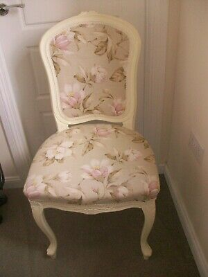 French Louis Style Chair in Laura Ashley Fabric Shabby Chic  Bedroom Hallway