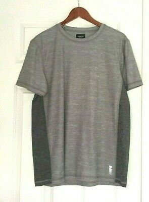 american eagle outfitters ae active mens top gray large 360 degree extreme flex