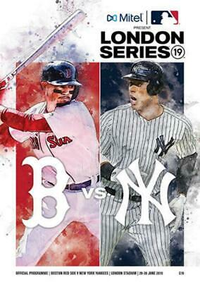* 2019 MLB LONDON - BOSTON RED SOX v NEW YORK YANKEES - OFFICIAL PROGRAMME *