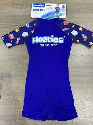 Boys Size 2-3 Floaties Boys' Swimsuit - Rockets Confident Kids Bathers *NEW BNWT