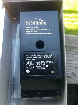 Sea Gull Lighting Hardwire Electronic Transformer 1-Phase 12V 60-150W 9456-12