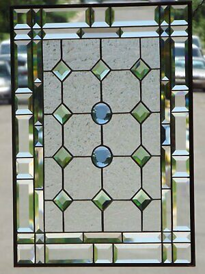 """•In Perfect Harmony • Beveled Stained Glass Window Panel • 24 ½"""" x 18 ½"""" *"""