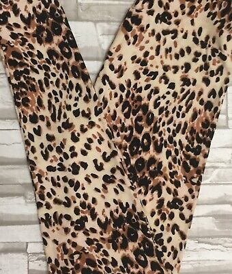 8ce75d7a15d494 NWT Lularoe OS RARE Vintage Leopard Cheetah Leggings Cream Black Brown  *Unicorn*