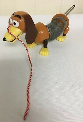 Walt Disney Pixar Toy Story Small Slinky Dog Metal Pull Along Toy Weiner Brown