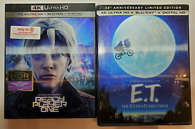 E.T 4K Limited Edition+Ready Player One 4K+Blu-ray+Digital+LENTICULAR SLIP COVER