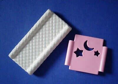 2 Barbie nursery replacement pieces for crib & table Baby Krissy Happy Family