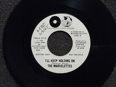 northern soul THE MARVELETTES I Keep Holding On TAMLA 54116 DJ  1 SIDE PROMO