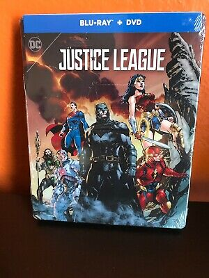 Justice League Blu-Ray + DVD SteelBook New Free Shipping