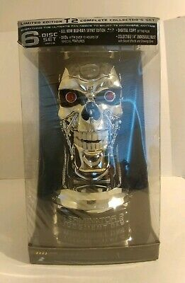 Sealed Terminator 2 T2 Judgment Day Blu-ray 6-Disc Skynet Edition Endoskull Bust