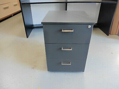 Office Grey 3 X Drawer Mobile Drawer Set Brisbane