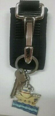 Keyring Holder Heavy Duty Nylon. Suits Duty Belts up to 2-3/4""