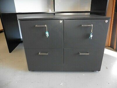 Office Grey Double - Side  File Drawer Set Brisbane