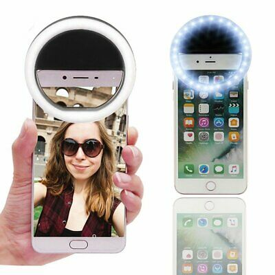 Selfie Ring Light for Phone Camera Photography Video Usb Rechargeable Clip US