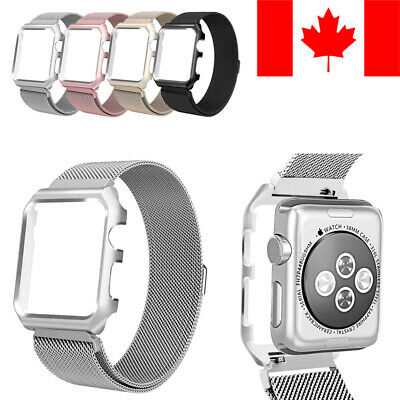 Case With Milanese Loop Replacement Band For Apple Watch (Series 1 / 2 / 3 / 4)